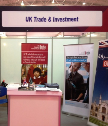 The wealth of information on the UKTI stand