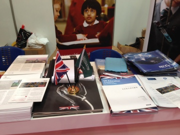 The wealth of information on the UKTI stand (including our brochures!)