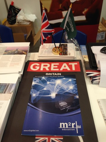 Our brochure on the UKTI stand