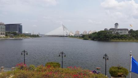Putrajaya. One bridge and one set of street lamps.